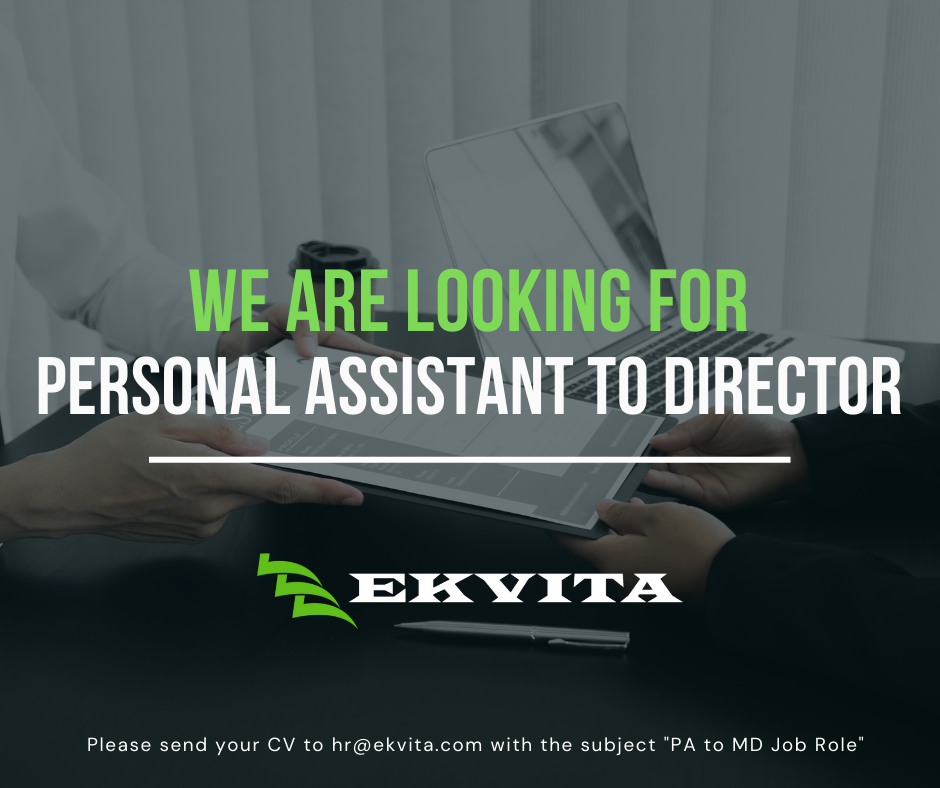 JOB ANNOUNCEMENT : Personal Assistant to the Managing Director