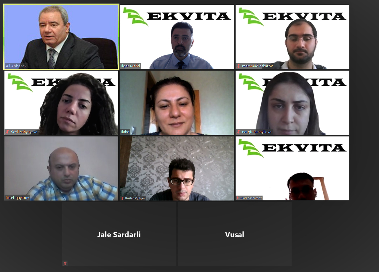 A video conference was held between the High Technologies Park of ANAS and Ekvita