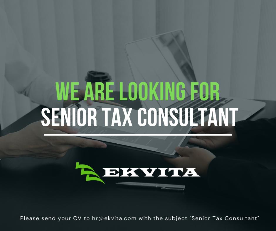 JOB ANNOUNCEMENT: Senior Tax Consultant